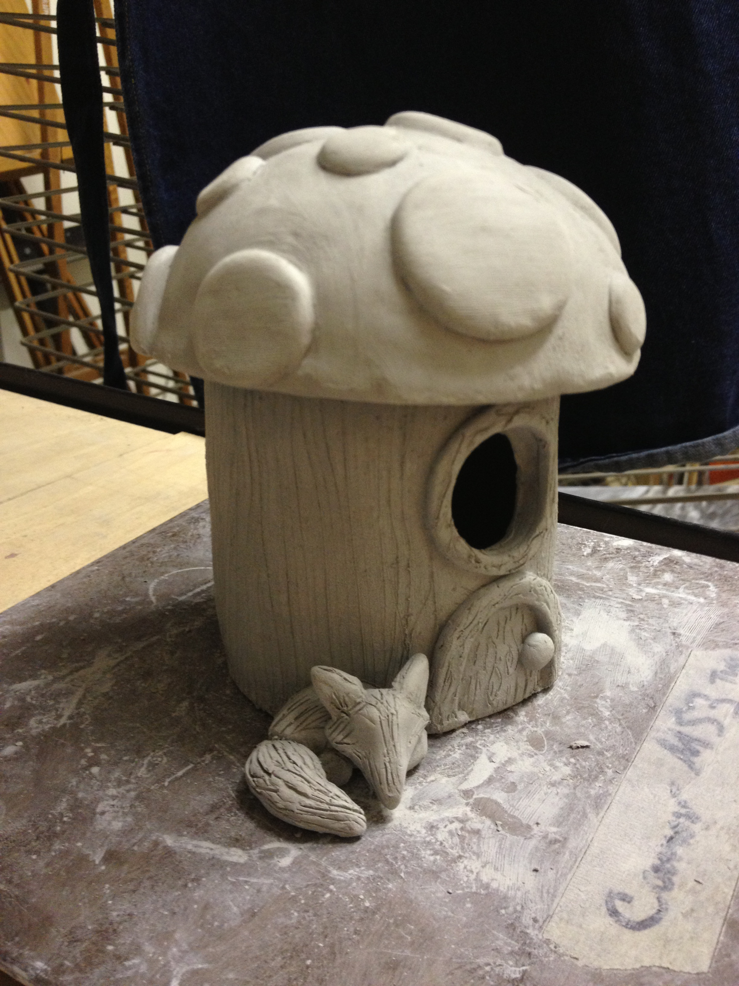 Ceramic fairy house create art with me for How to make ceramic painting