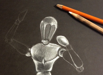 how to use a wooden mannequin for drawing