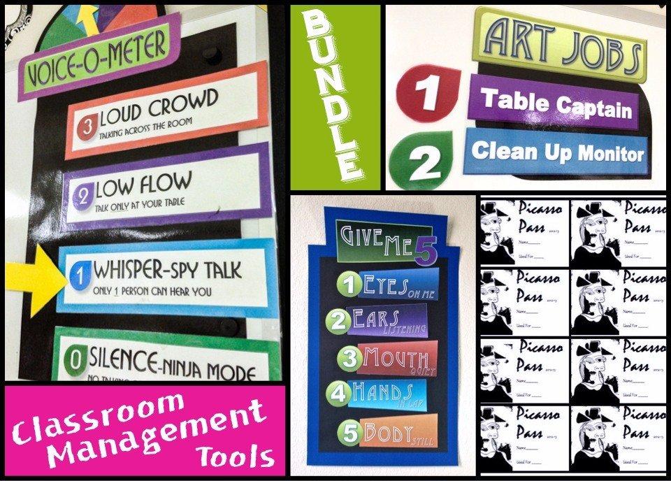 Innovative Classroom Management Tools ~ Bundled art classroom management tools create with me