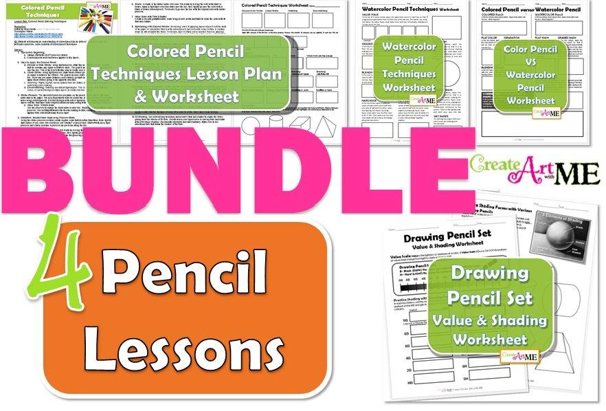 pencil lessons bundle colored pencil watercolor pencil drawing pencil. Black Bedroom Furniture Sets. Home Design Ideas