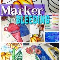 Marker Bleeding Painting